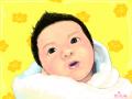 아기 : 아기의 모습 스케치판 ,sketchpan