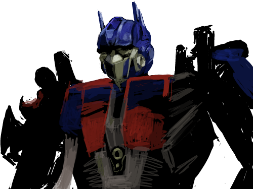 optimus prime : 트렌스포머의 대장 optimus prime 스케치판 ,sketchpan