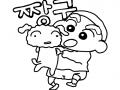 짱구와흰둥이 : 짱구와흰둥이를 예쁘게 칠해 보세요~^^ 스케치판 ,sketchpan