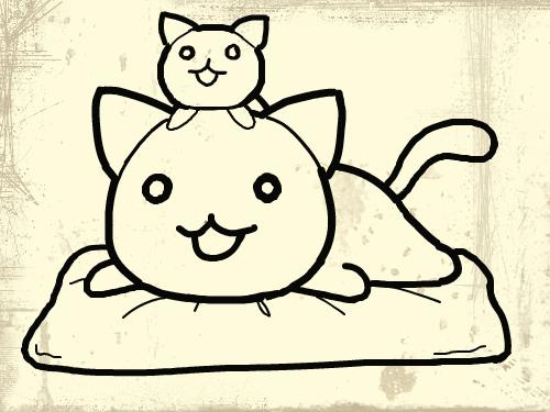 고양고양이 : 고양이를 예쁘게 칠해 보세요^^ 스케치판 ,sketchpan