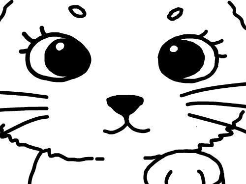 고양이의 얼굴 : 고양이의 얼굴 예쁘게 칠해 보아용 스케치판 ,sketchpan