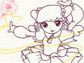 요술공주- : 귀여운 캐릭터에게 이름도 지어주고 색도 칠해 보세요^^~ 스케치판 ,sketchpan