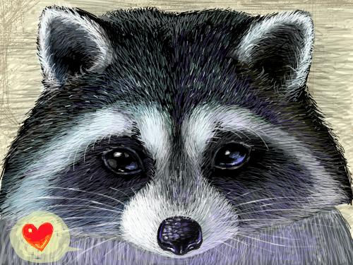 샤랑너구리 : 귀여운 너구리 얼굴 그리기~ㅎㅎ 스케치판 ,sketchpan