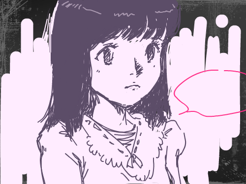 뭐라는거지? : 마지막에 그녀는 뭔가를 말했다..기억이 나지 않아 스케치판 ,sketchpan