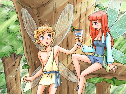 요정의숲-채색 : 채색완료~ 스케치판 ,sketchpan