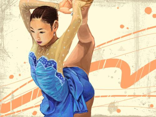 김연아 : 멋진 국민 여동생 김연아~ 스케치판 ,sketchpan