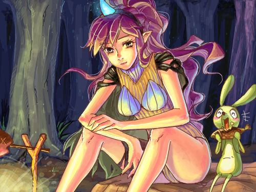 길을 잃었나요.. : 숲속에서 길을 잃었을 땐 그녀를 찾아가세요 무엇인가 먹을 것을 줄지도 몰라요~  하지만..그래도 그녀가 도깨비라는 것을 잊지는 마세요^v^ 스케치판 ,sketchpan
