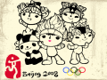 2008북경올림픽 : 캐릭터들 채색해 보세요~ 그리면서 캐릭터들이 참 귀엽다는 생각이 많이 들었어요~^ ^ 베이베이(물고기),징징(판다),환환(올림픽성화),잉잉(티베트영양),니니(제비)..누가 누구일까요?ㅎㅎㅎ 스케치판 ,sketchpan
