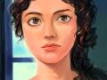 She is.... : 인상적인 여인의 얼굴을 투명하게 그려 보고 싶어서.. 스케치판 ,sketchpan
