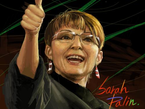 Sarah Palin : 미국 부통령 후보라져?ㅎㅎ 스케치판 ,sketchpan