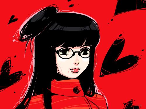Red Point. : 누군가에게 끌리는 강력한 매력. 강렬한 인상. 레드 포인트. 스케치판 ,sketchpan