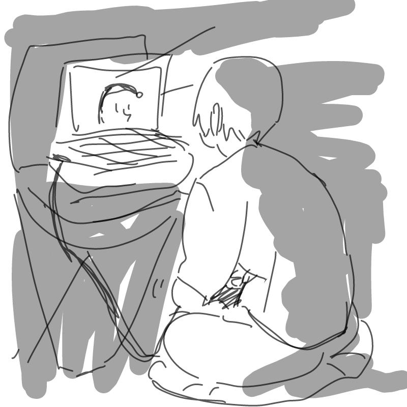 제대로 된 .. : 제대로 된 책상이랑 데탑만 있었어도 한 3배 더 오래 그림을 그렸을거라  확신합니다,, 노트북인것도 눈알 빠지게 서러운데 책상도 없어서 골반이 쪼개지고 쪼그라든 어깨에서 목 빠질듯 이거 너무 고행 아닌가요 카페가고싶 스케치판 ,sketchpan