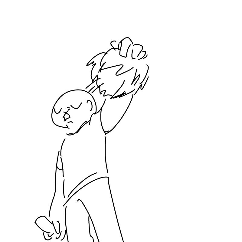 앗.. 머리.. : 앗.. 머리칼을 그리고 보니 머머리가 낫네요 너무 징그럽다 스케치판 ,sketchpan