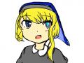 수녀 -리엔- : 수녀이며 마수를 처단하는 교신중 한 명이며그녀의 부모의 정신을 이어 수련을 계속한다 스케치판 ,sketchpan