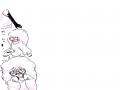 염소 몽실.. : 염소 몽실몽실 귀엽지 않나요? 뿔 몰라서 생략ㅠㆍㅠ 스케치판 ,sketchpan