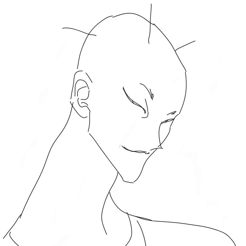 이름;세모 .. : 이름;세모 세가닥의 모발만이 남아있다 스케치판 ,sketchpan