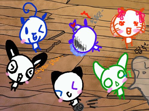 끼토들의 ,술래잡기 ,[?] : 술래잡기 , ,와둥이님 ,미쉘님,그림짱님,페팅님,꽁냥이 ,ZeroYuKi님 ,  스케치판 ,sketchpan