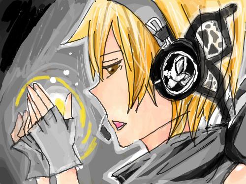 렌  , : 피부색칠 헤셋모양살짝ㅋ 스케치판 ,sketchpan