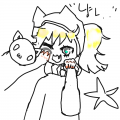 로리가 냥.. : 로리가 냥이 따라하다 계피하마에게 방해받는 장면 ver. 스케치판 ,sketchpan