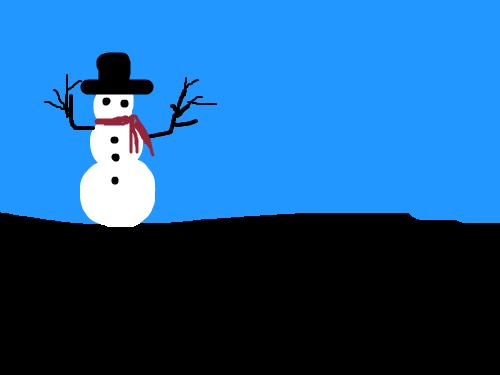I\'M MELTING : SNOWMAN MELTING 스케치판 ,sketchpan
