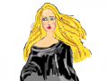 BLONDE : BLONDE GIRL IN BLACK DRESS 스케치판 ,sketchpan