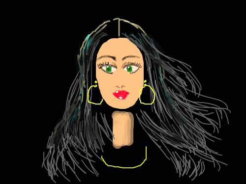 GIRL : GIRL WITH BLACK HAIR 스케치판 ,sketchpan