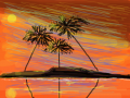 PALM TREES : PALM TREES AT SUNSET 스케치판 ,sketchpan