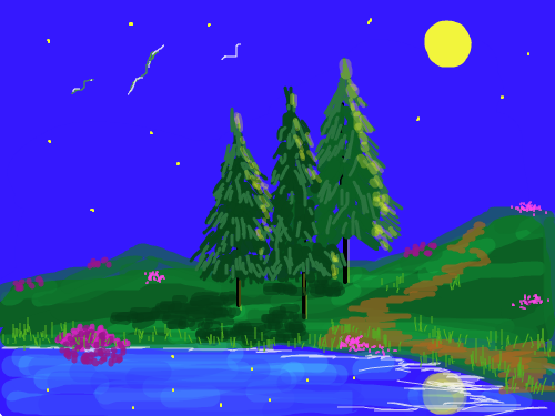 moonlit night : moonlight view 스케치판 ,sketchpan