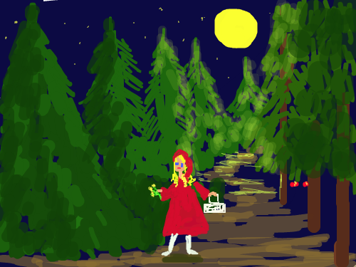 little red riding hood : girl in forest 스케치판 ,sketchpan