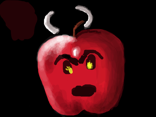 BAD APPLE : APPLE WITH MEAN FACE 스케치판 ,sketchpan