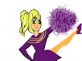 CHEER LEADER : A GIRL LEADING A CHEER 스케치판 ,sketchpan