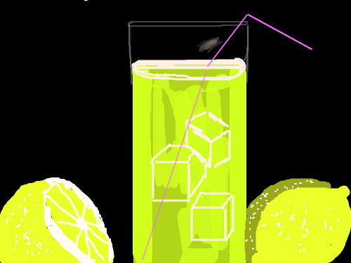 LEMONLIMADE : COLD DRINK 스케치판 ,sketchpan