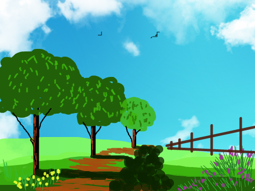 COUNTRY : COUNTRY ROAD 스케치판 ,sketchpan