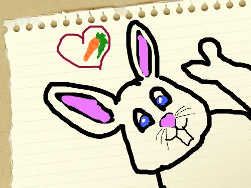 BUNNY : RABBIT LOVES CARROTS 스케치판 ,sketchpan
