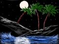 MOONLIT BEACH : MOON,  SHINING OVER BEACH 스케치판 ,sketchpan