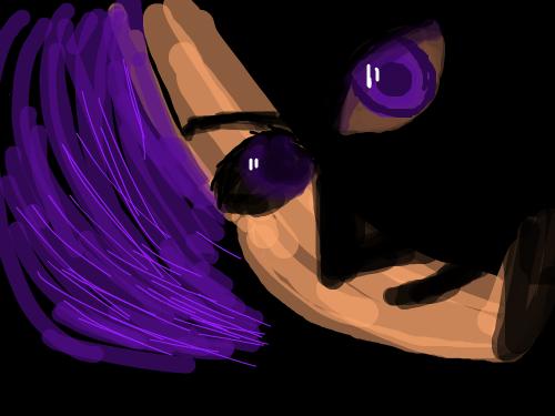 STRANGE GUY : PURPLE HAIRED GUY 스케치판 ,sketchpan
