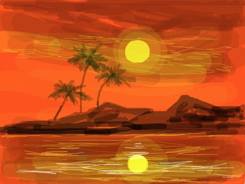 hot beach : island 스케치판 ,sketchpan