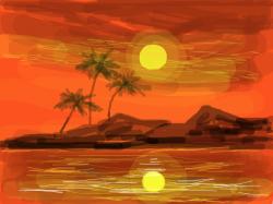 hot beach : island , 스케치판,sketchpan,warden