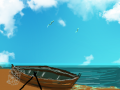 ASHORE : BOAT AT REST 스케치판 ,sketchpan
