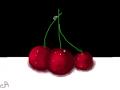 cherries : 3 cherries 스케치판 ,sketchpan