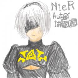 [NieR: Aut.. : [NieR: Automata] 2B , 스케치판,sketchpan,SiSu*
