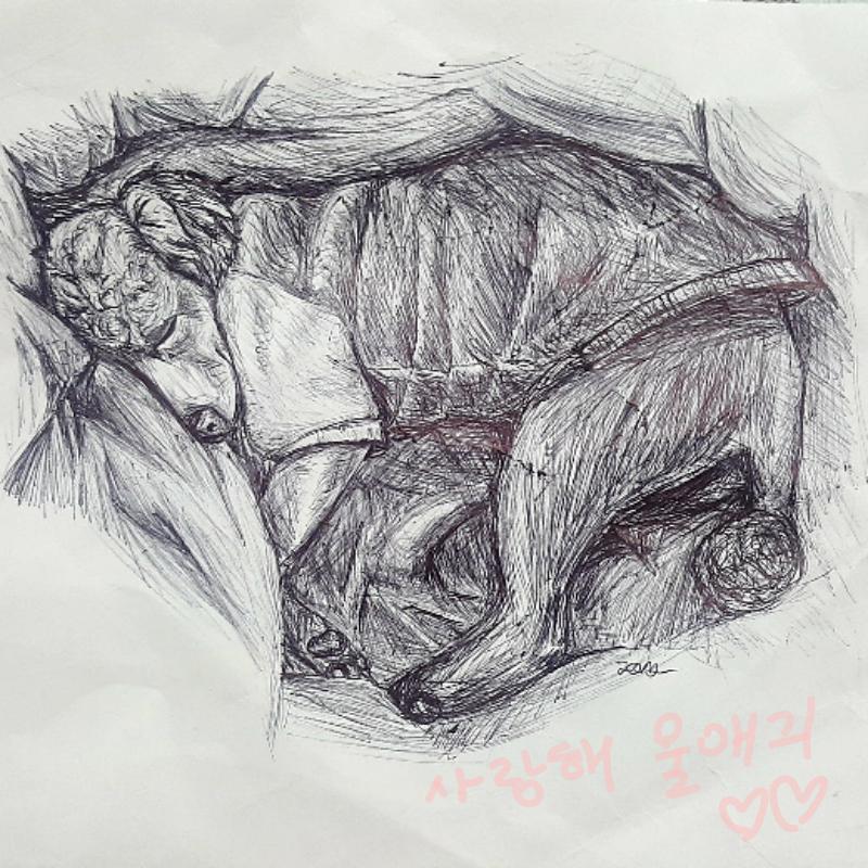 언제나 변.. : 언제나 변함없이 사랑하는 울 댕댕이 또래♡♡ 스케치판 ,sketchpan