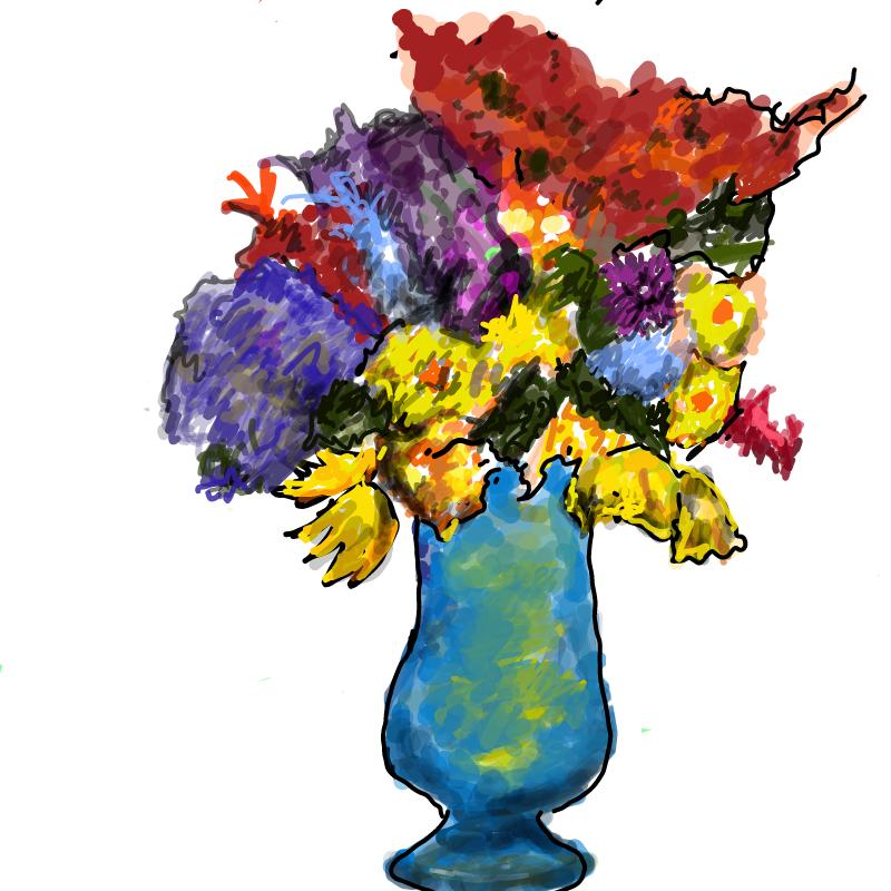 꽃병 : 꽃병 스케치판 ,sketchpan