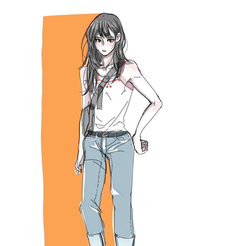 데일리룩 : 데일리룩 스케치판 ,sketchpan