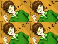 sleeping hiroki : Hiroki x Nowaki - Junjou Egoist (c) Nakamura Shungiku 스케치판 ,sketchpan