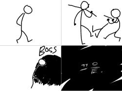 BOSS! : 보스던전에는... , 스케치판,sketchpan,해어림