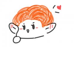 차뇨 머리 .. : 차뇨 머리 주황이ㅜㅜㅜ , 스케치판,sketchpan,°찬열덮밥°