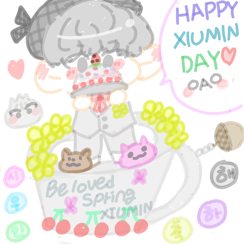 #Beloved_S.. : #Beloved_Spring_Xiumin #HAPPYXIUMINDAY 스케치판 ,sketchpan