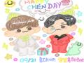 #종대에게_.. : #종대에게_물드는_우리의가을 #Fall_in_CHENday 스케치판 ,sketchpan