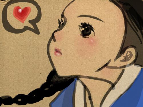 소녀 : ..... 스케치판 ,sketchpan